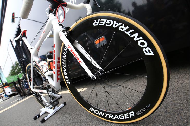足回りは山岳ステージではボントレガーのAeolus3 D3、平坦ステージでは同Aeolus5 D3を使う