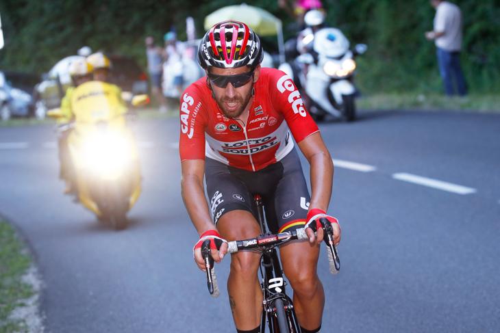 ツール・ド・フランス2017第14ステージにてZ1を被るトーマス・デヘント(ベルギー、ロット・ソウダル)