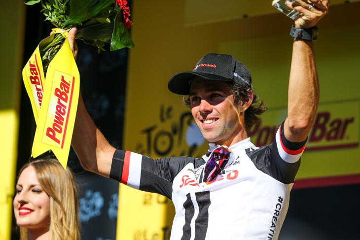 2年連続でステージ優勝を飾ったマイケル・マシューズ(オーストラリア、サンウェブ)
