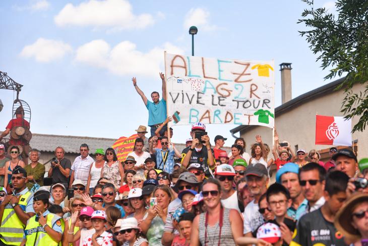 ロマン・バルデ(フランス、アージェードゥーゼール)の応援が目立つ