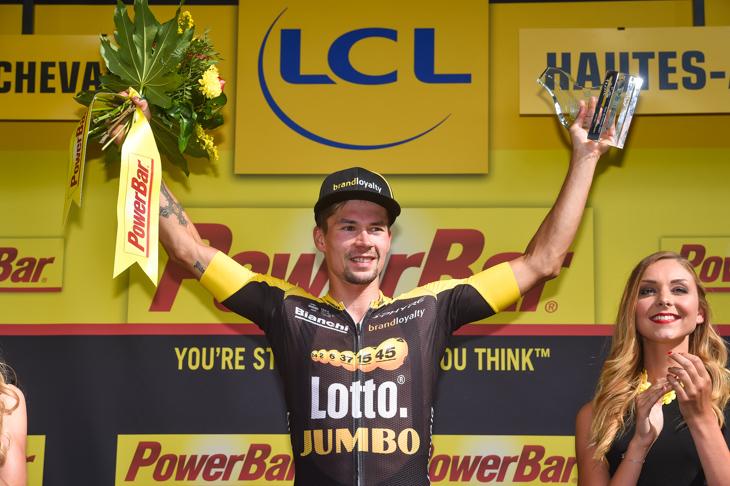 ステージ初優勝を飾ったプリモシュ・ログリッチェ(スロベニア、ロットNLユンボ)