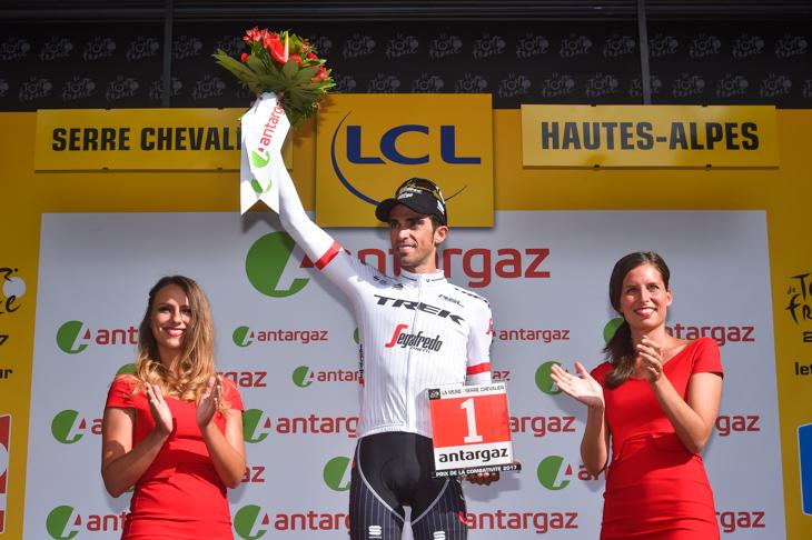 ステージ敢闘賞を獲得したアルベルト・コンタドール(スペイン、トレック・セガフレード)