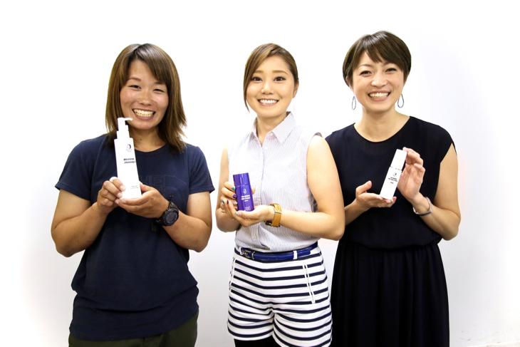 西井万智子さん、針谷千紗子さん、一戸恵梨子さん(左から)