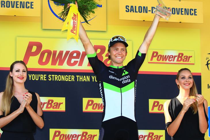 2011年以来のツールでのステージ優勝を飾ったエドヴァルド・ボアッソンハーゲン(ノルウェー、ディメンションデータ)