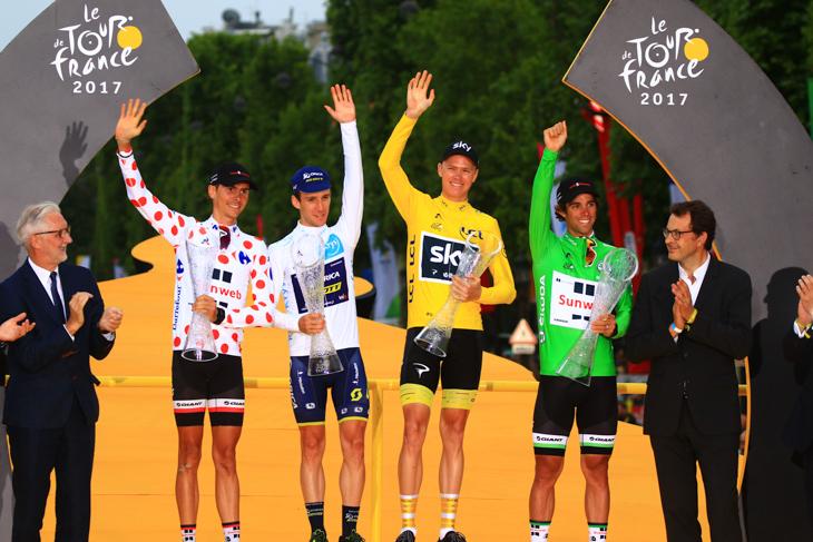 4賞ジャージすべてをシマノサポートチームが獲得する快挙を達成した