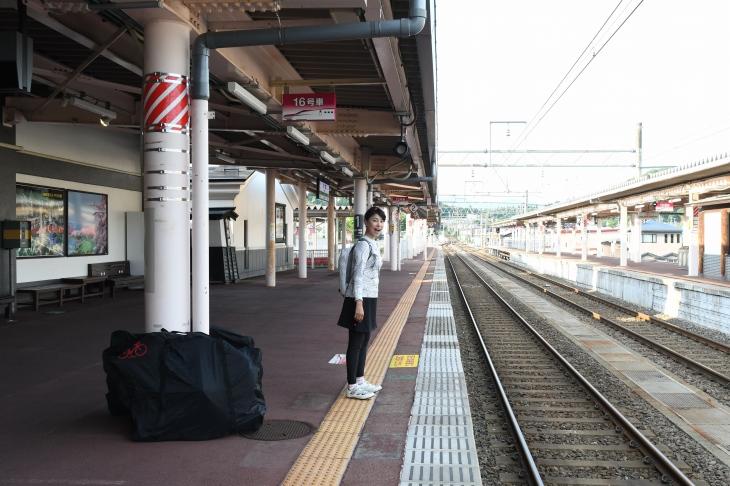 角館駅から輪行すれば東京はあっというま