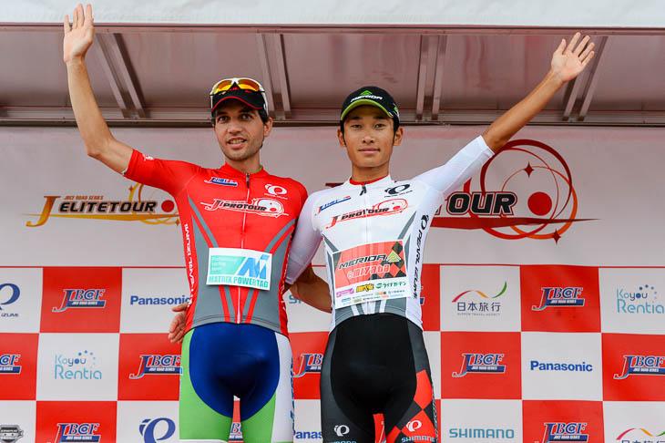 ルビーレッドジャージはホセ・ビセンテ(マトリックスパワータグ)、U23リーダーは雨澤毅明(宇都宮ブリッツェン)