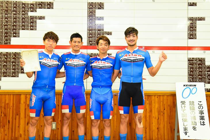男子4kmチーム・パーシュート 実業団新記録を出した愛三工業レーシングチーム