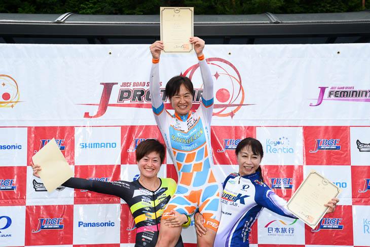 女子3kmインディヴィデュアル・パーシュート 表彰式