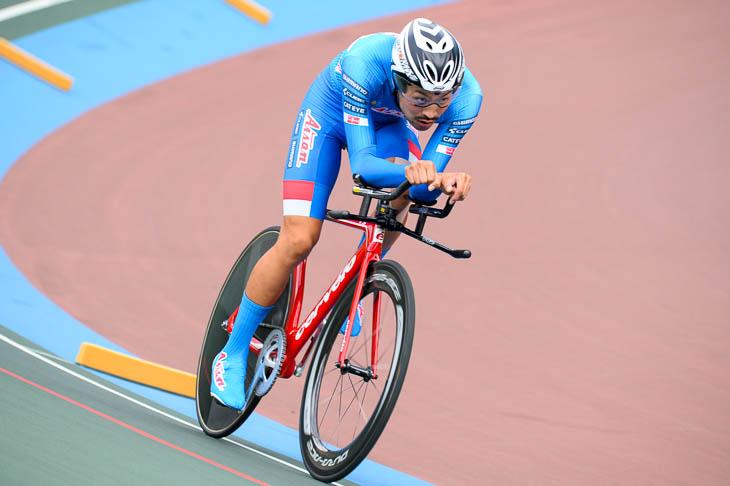 男子4kmインディヴィデュアル・パーシュート優勝 原田裕成(愛三工業レーシングチーム)4分34秒432