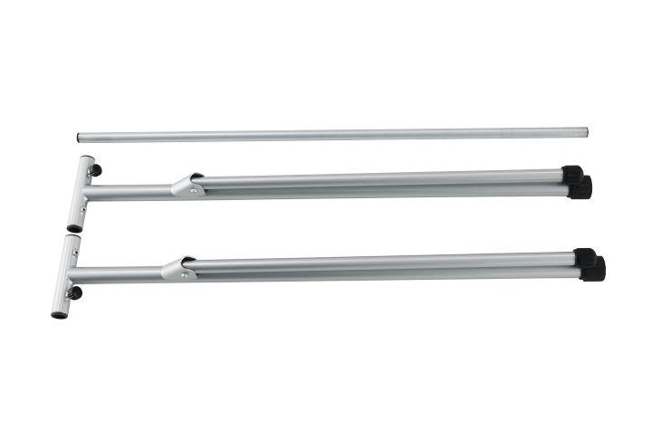 角パイプが長さ1000mmのため、持ち運びも行いやすい