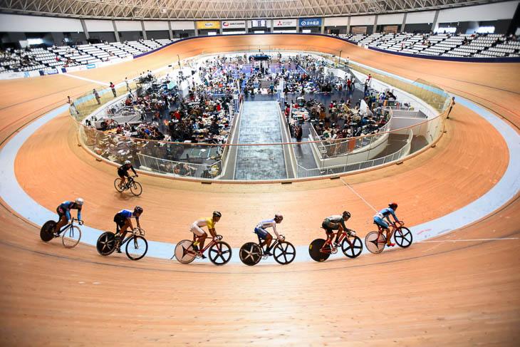 国際規格に準拠した250m板張りバンクの伊豆ベロドローム。各地の競輪場も含めれば、国内に多くの自転車競技場が点在している