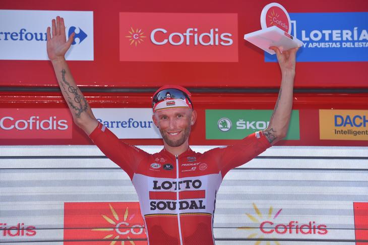 ステージ優勝を飾ったトーマス・マルチンスキー(ポーランド、ロット・ソウダル)