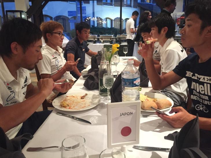 日本U23チームのディナータイム
