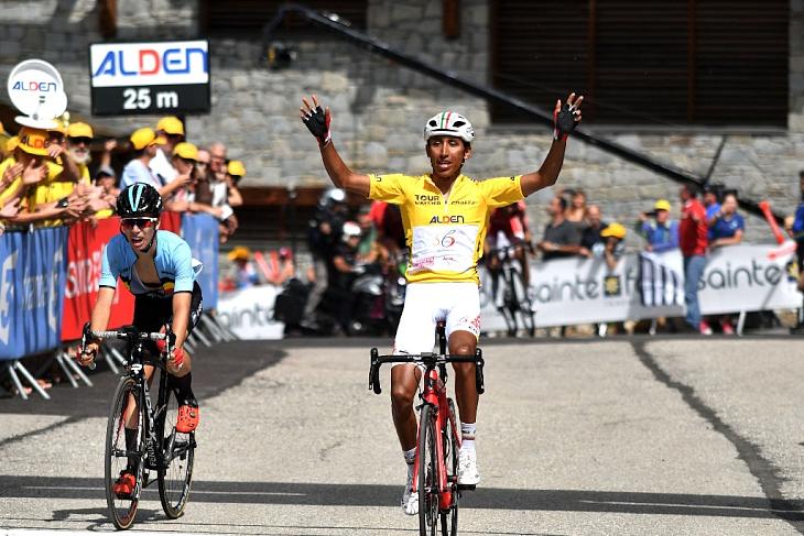 ステージ2連勝のエガン・ベルナル(コロンビア)