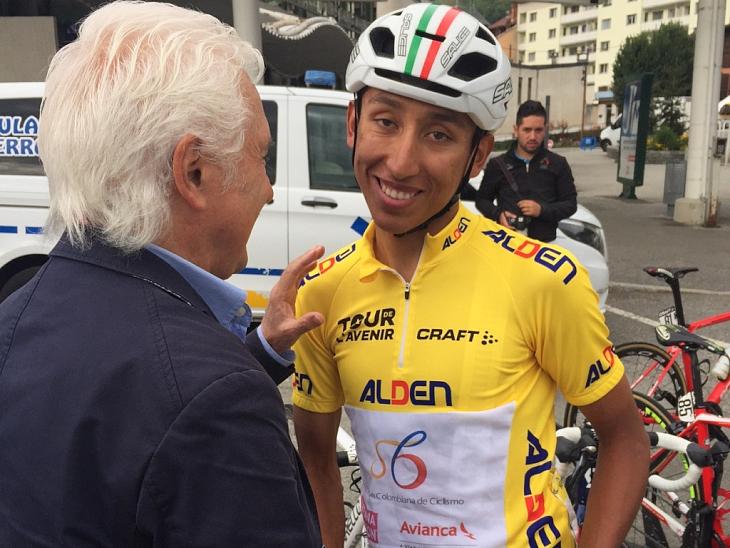 ツール・ド・ラヴニールで総合優勝を遂げ、チームスカイへの移籍が発表されたエガン・ベルナル(コロンビア)