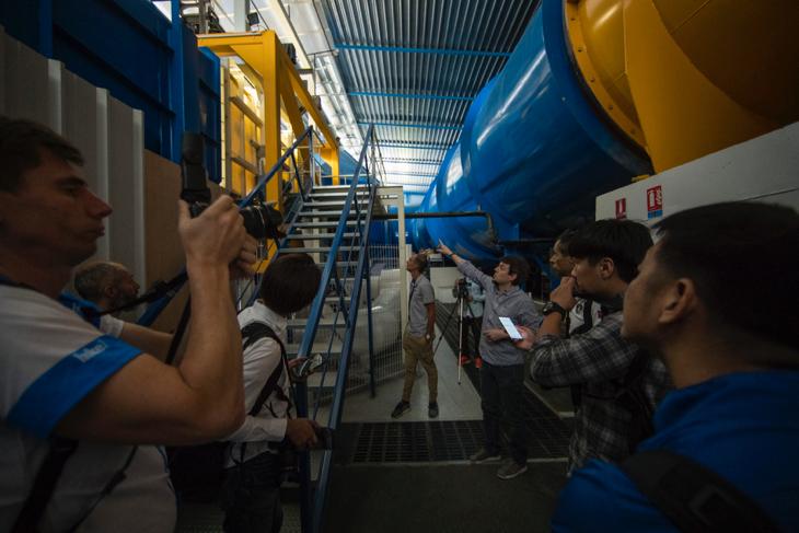 マニクール・サーキット内の風洞実験施設「ACE」を見学。その規模に驚く