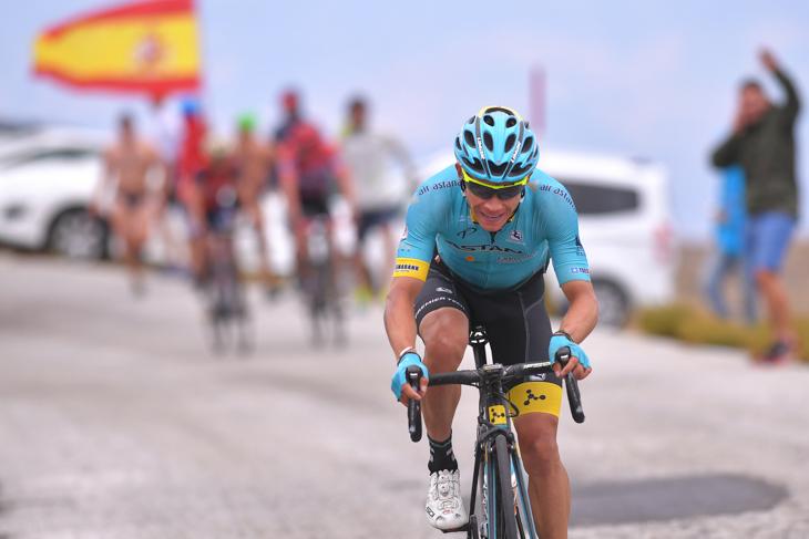 残り1kmから独走に持ち込んだミゲルアンヘル・ロペス(コロンビア、アスタナ)