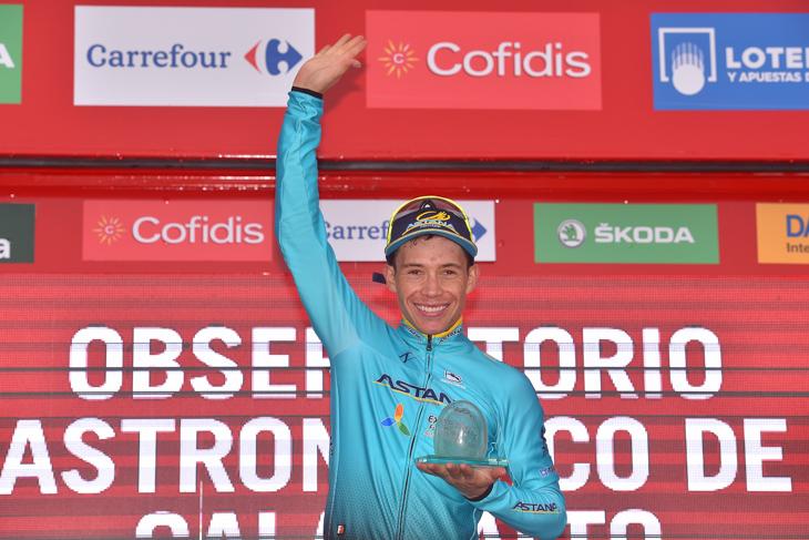 ステージ初優勝を飾ったミゲルアンヘル・ロペス(コロンビア、アスタナ)