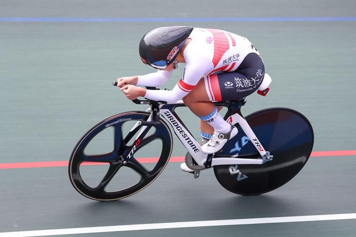 女子3kmインディヴィデュアルパーシュート 梶原悠未(筑波大)3分46秒917(予選時)