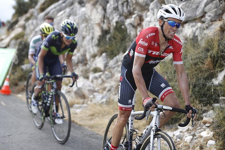 総合8位に順位を上げたアルベルト・コンタドール(スペイン、トレック・セガフレード)