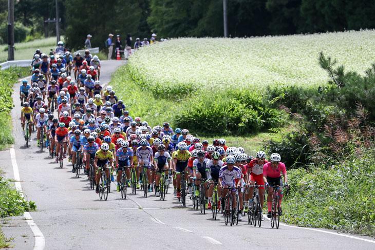 長野県大町市美麻地区の公道を利用したコースを走るインカレロード