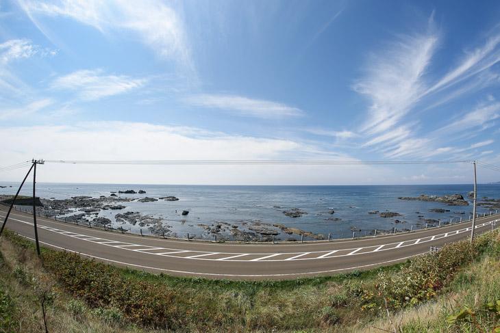 第2ステージ 北海道最南端の白神岬から津軽海峡を望む