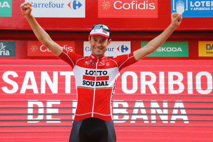 プロキャリア初の優勝を掴んだサンデル・アルメ(ベルギー、ロット・ソウダル)
