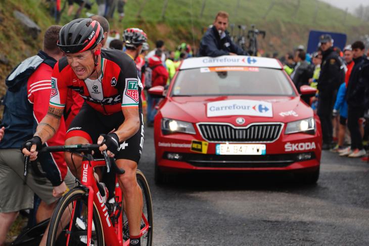 ステージを狙ったニコラス・ロッシュ(アイルランド、BMCレーシング)。写真は第17ステージ