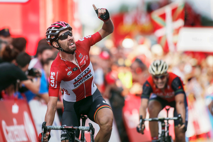 圧倒的なスプリントで勝利したトーマス・デヘント(ベルギー、ロット・ソウダル)