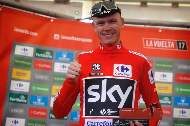 「初めてマイヨロホを着て走るマドリードが楽しみ」クリストファー・フルーム(イギリス、チームスカイ)