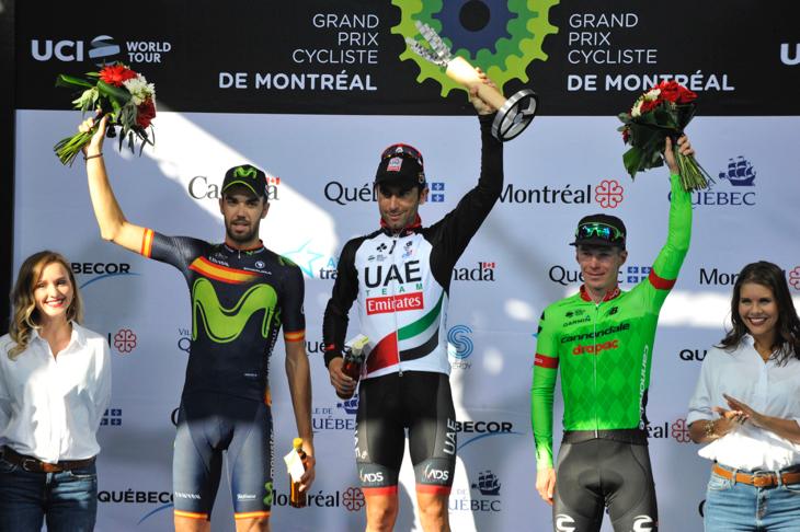 グランプリ・シクリスト・ド・モンレアル2017 表彰台