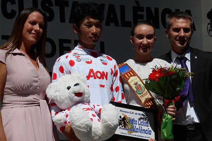 スペインの山岳スペシャリスト達を抑え、山岳賞受賞の雨澤毅明(日本U23/宇都宮ブリッツェン)