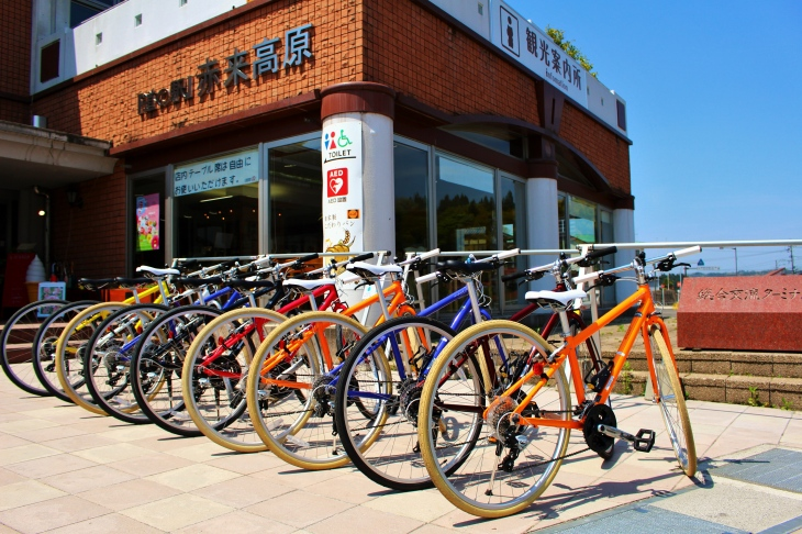 「道の駅」赤来高原のレンタサイクル。クロスバイクを1日1000円で利用できる