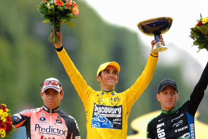 2007年 ツール・ド・フランス初総合優勝を飾ったアルベルト・コンタドール(ディスカバリーチャンネル)