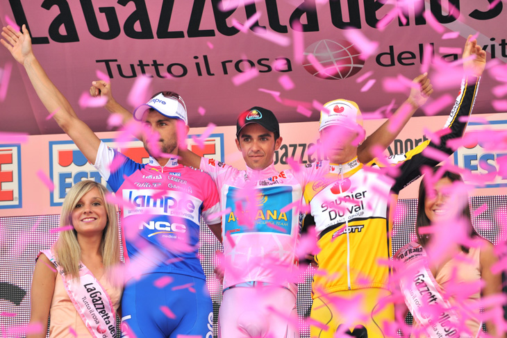 2008年 ジロ・デ・イタリア初総合優勝を飾ったアルベルト・コンタドール(アスタナ)