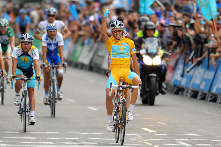 2008年 ブエルタ・ア・エスパーニャ初総合優勝を飾ったアルベルト・コンタドール(アスタナ)