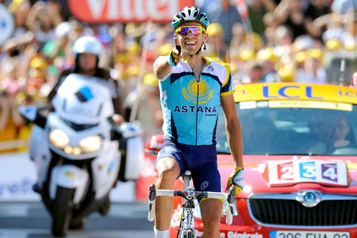 2009年 ツール・ド・フランス第15ステージを制したアルベルト・コンタドール(アスタナ)