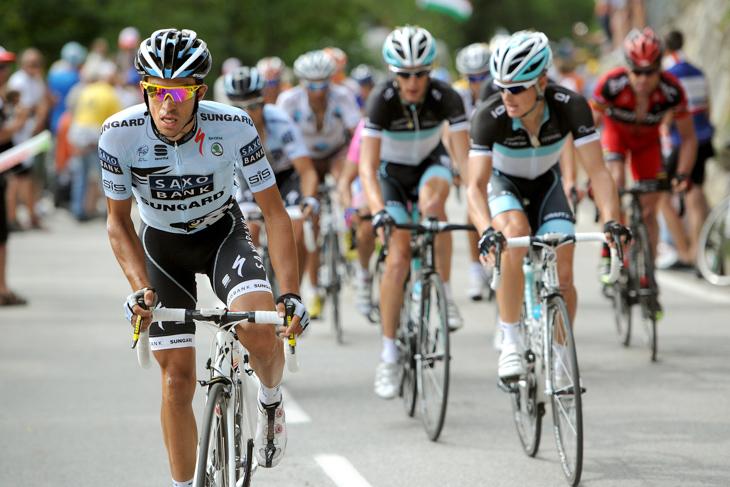 2011年 ジロを制したアルベルト・コンタドール(サクソバンク・サンガード)はツール・ド・フランス総合5位に