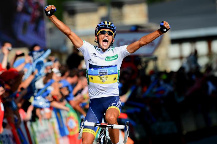 2012年 ブエルタ・ア・エスパーニャ第17ステージで大逆転アタックを成功させたアルベルト・コンタドール(サクソバンク・ティンコフバンク)