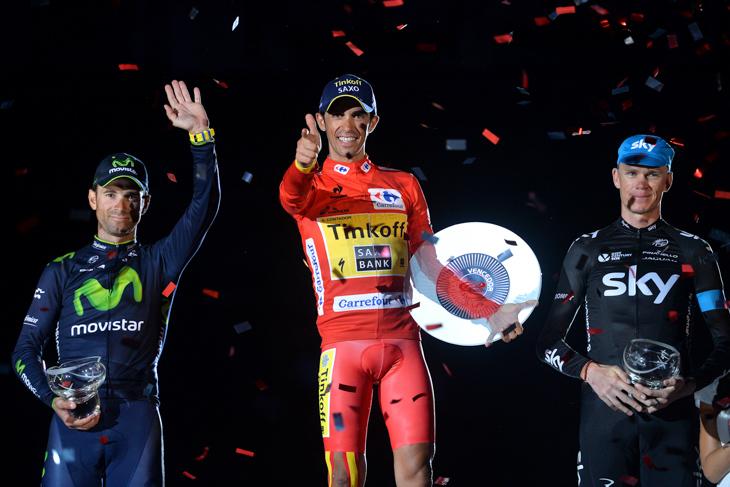 2014年 3度目のブエルタ・ア・エスパーニャ制覇を果たしたアルベルト・コンタドール(ティンコフ・サクソ)