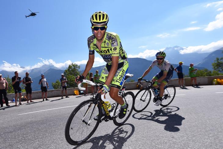 2015年 ツール・ド・フランスで積極的に動くも総合5位に終わるアルベルト・コンタドール(ティンコフ・サクソ)