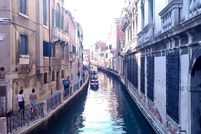 ヴェネツィアでの観光を楽しんだ