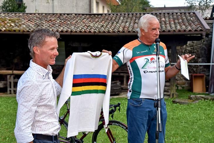 シクロクロス元世界チャンピオンのダニエレ・ポントーニ氏がゲスト参加
