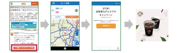 自転車NAVITIMEアプリ操作イメージ