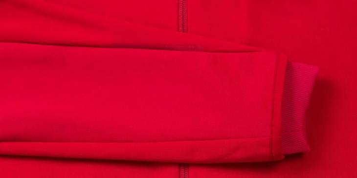 冷気の侵入を防ぐために絞り込んだ袖口