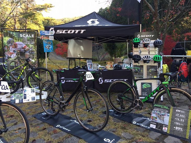 京都ゆぶねTOPEAK MTB LANDでスコットバイクの試乗会が開催される