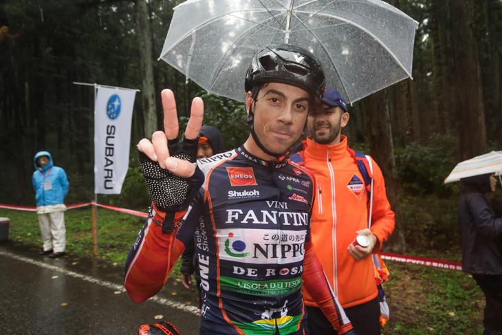 クリテリウムとロードレースの連勝を飾ったマルコ・カノラ(イタリア、NIPPOヴィーニファンティーニ)