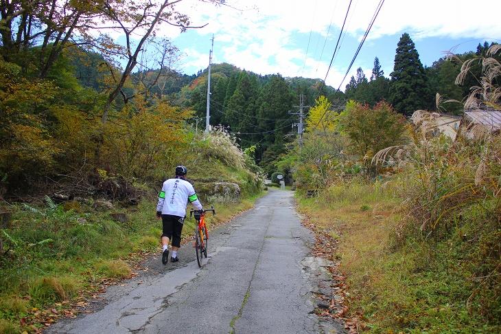 法雲寺までのラスト100mは20%ほどの勾配で自転車を降りざる得ませんでした