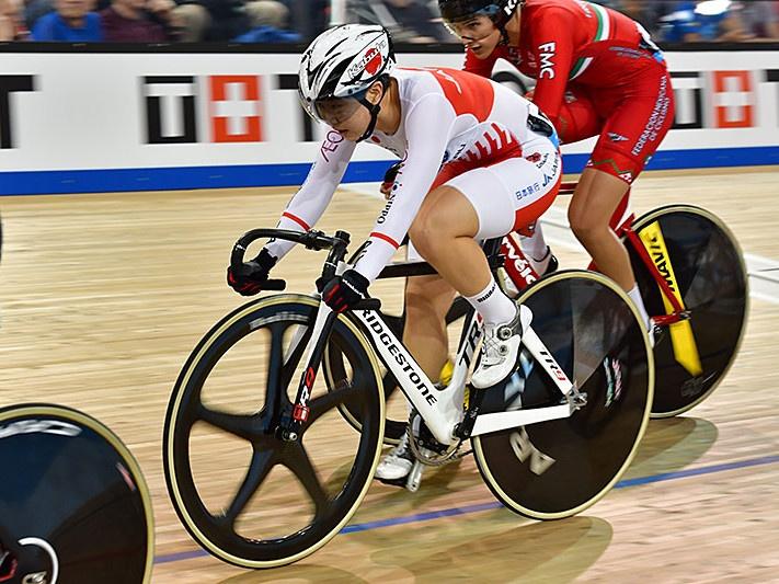 UCIトラックワールドカップ第3戦 女子オムニアムを走る梶原悠未